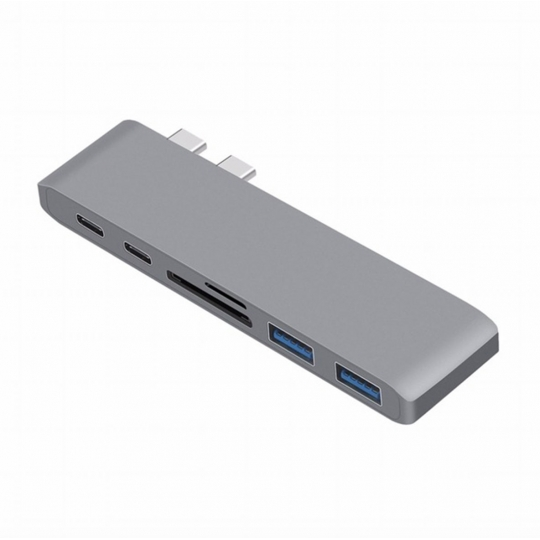 TYPE-C 7in1 HDMI USB Kart Okuyucu Çevirici Hub - Space Grey