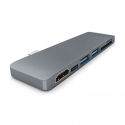 TYPE-C 6in1 HDMI USB Kart Okuyucu Çevirici Hub - Space Grey